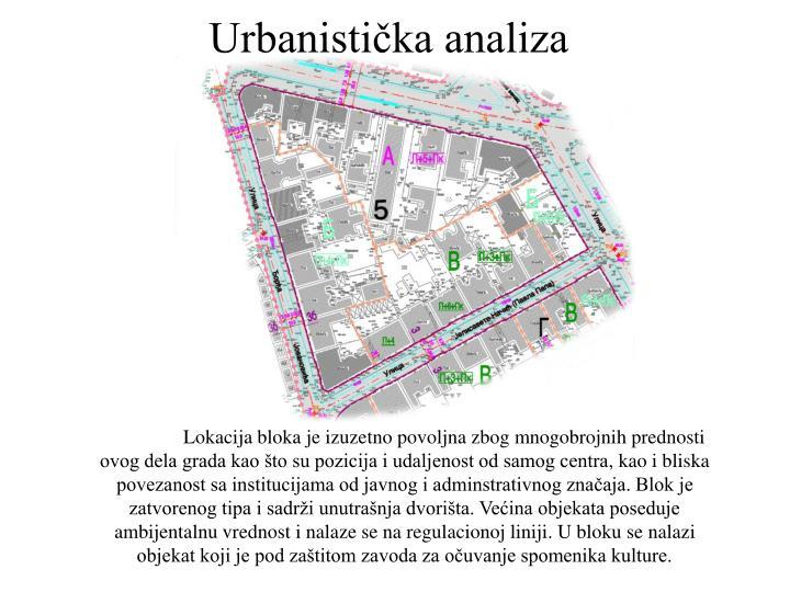 Urbanistička analiza