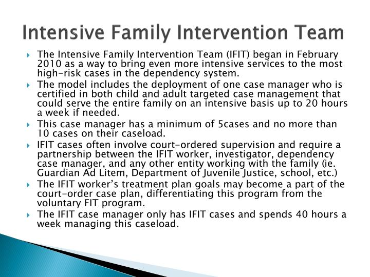 Intensive Family Intervention Team
