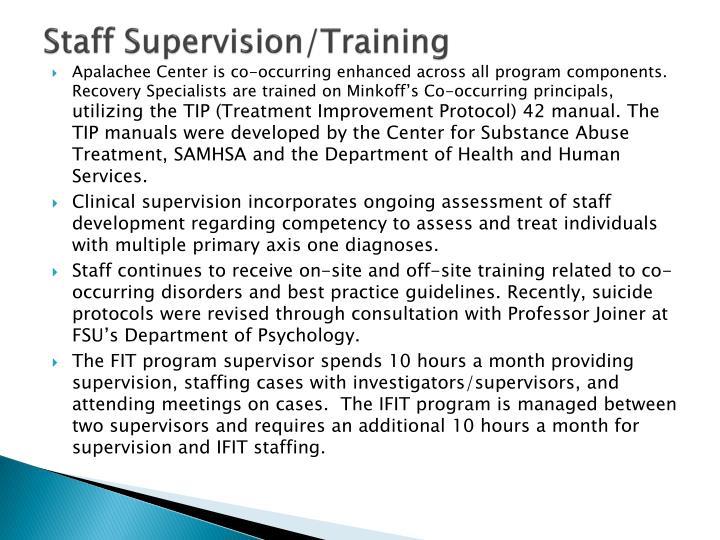 Staff Supervision/Training