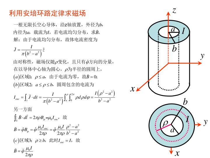 利用安培环路定律求磁场