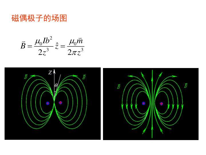 磁偶极子的场图