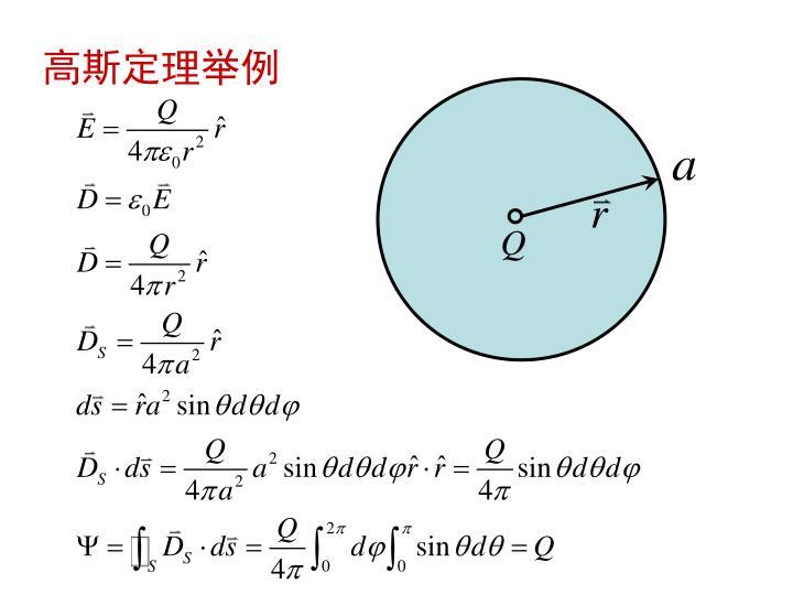 高斯定理举例