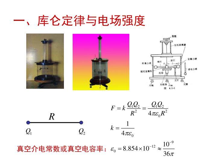 一、库仑定律与电场强度