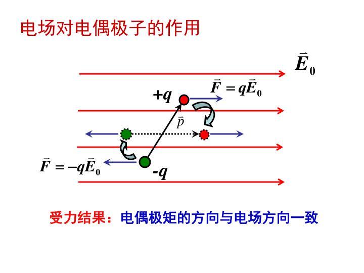 电场对电偶极子的作用