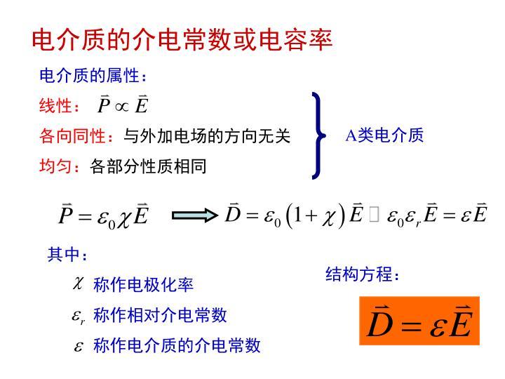 电介质的介电常数或电容率