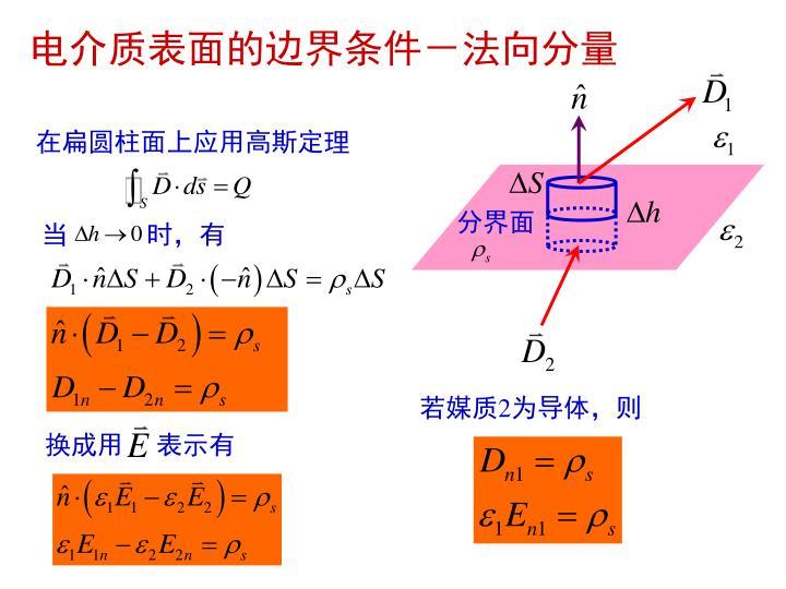 电介质表面的边界条件-法向分量
