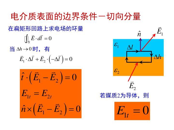 电介质表面的边界条件-切向分量