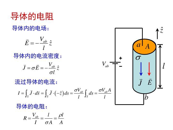 导体的电阻