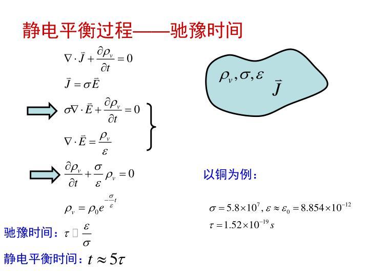 静电平衡过程
