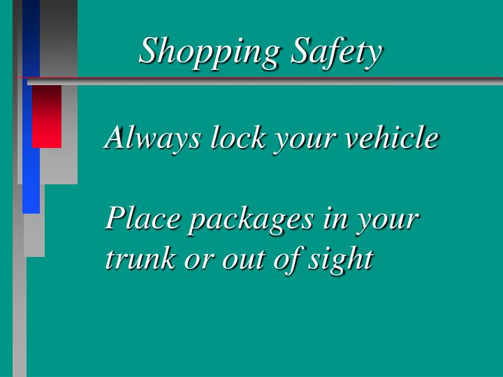 Shopping Safety