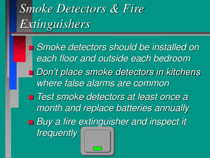 Smoke Detectors & Fire Extinguishers
