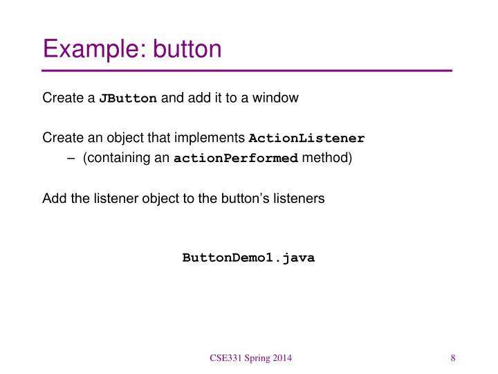 Example: button