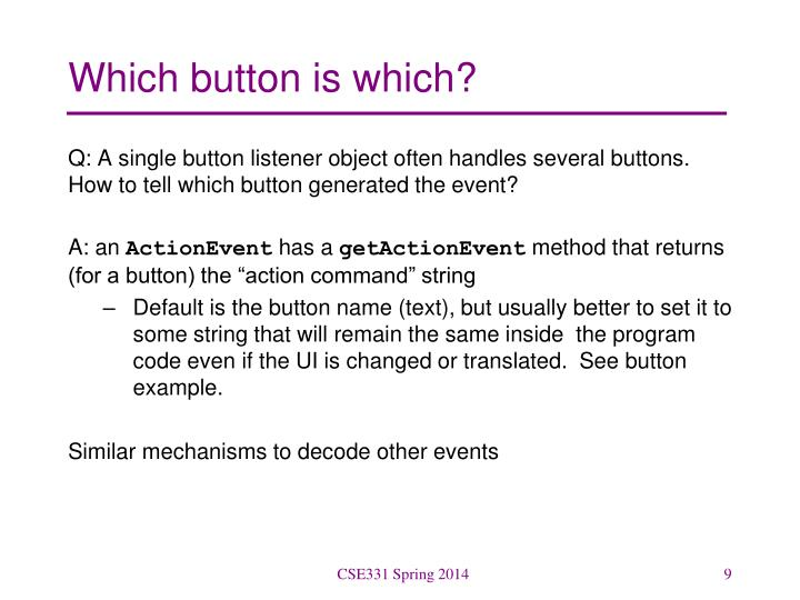 Which button is which?
