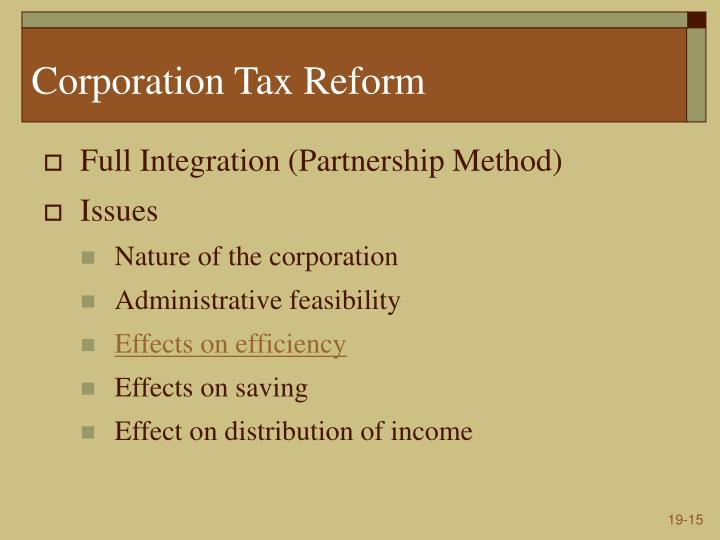 Corporation Tax Reform