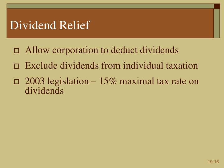 Dividend Relief