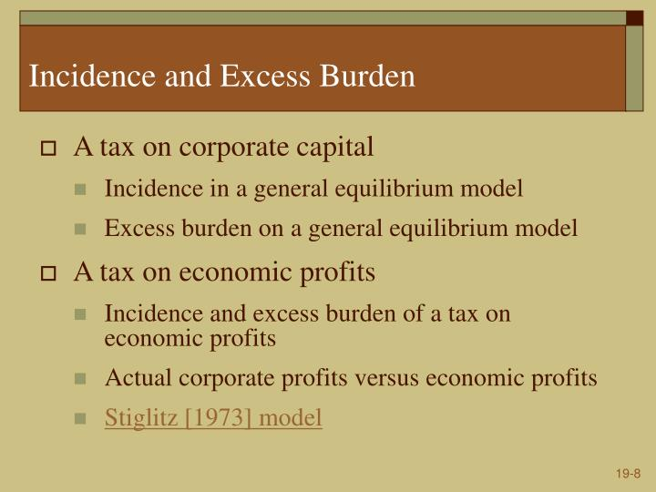 Incidence and Excess Burden