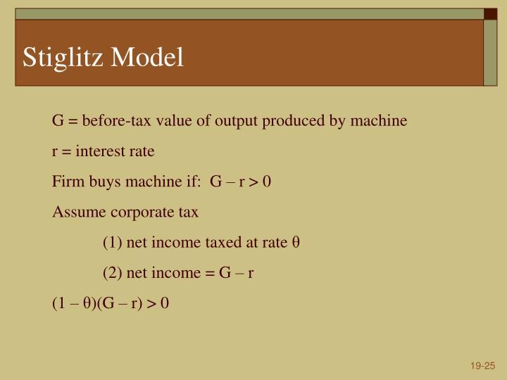Stiglitz Model