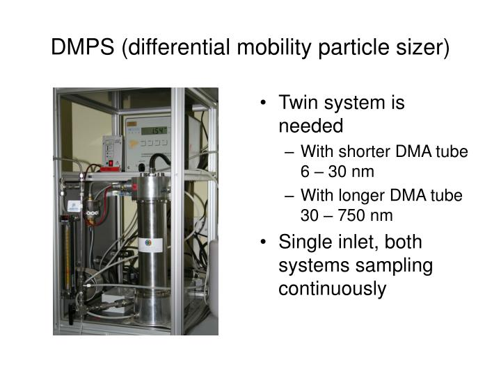 DMPS (differential mobility particle sizer)