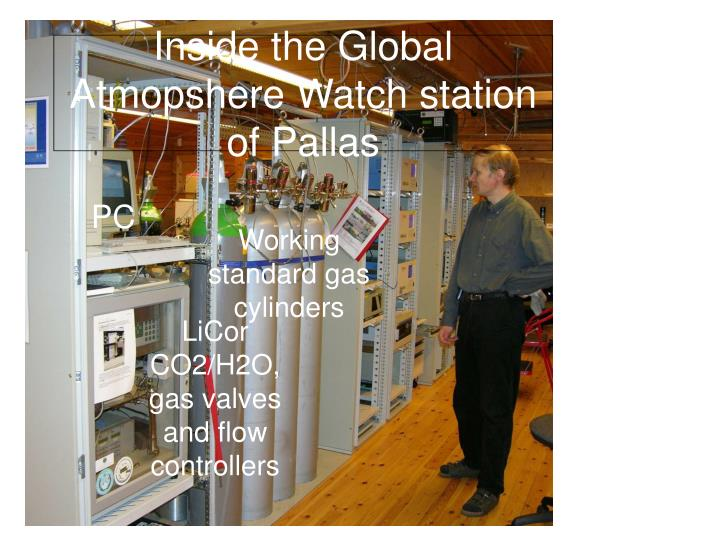 Inside the Global Atmopshere Watch station of Pallas