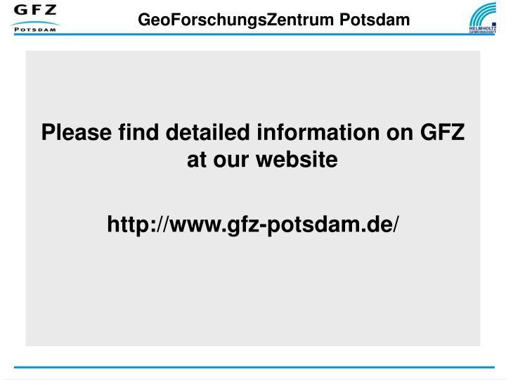GeoForschungsZentrum Potsdam