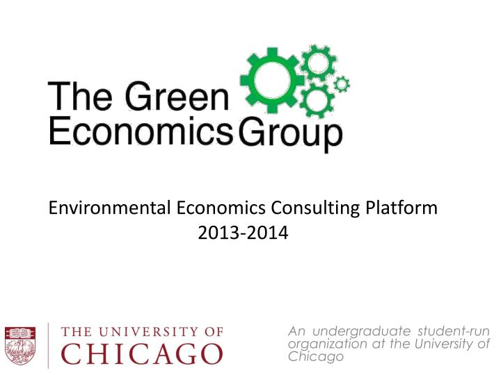 An undergraduate student run organization at the university of chicago