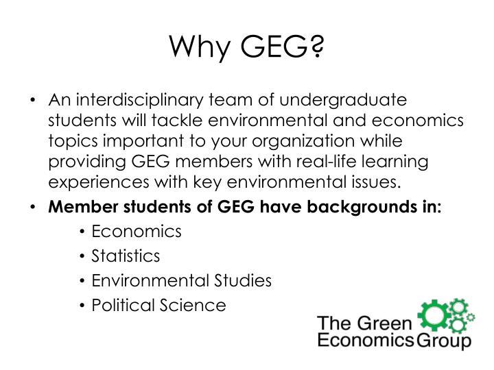 Why GEG?