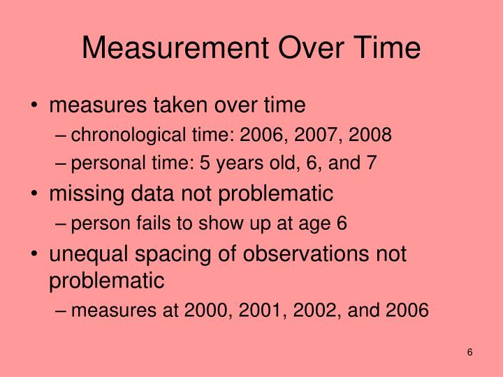 Measurement Over Time