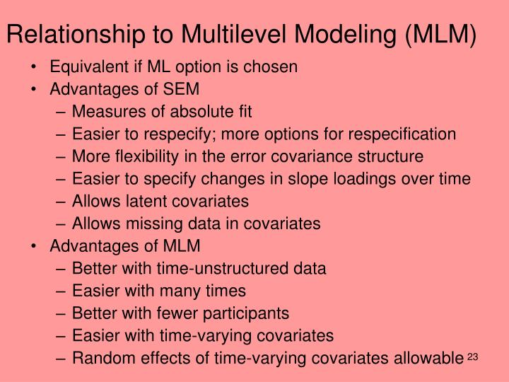 Relationship to Multilevel Modeling (MLM)