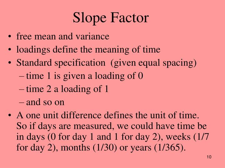 Slope Factor