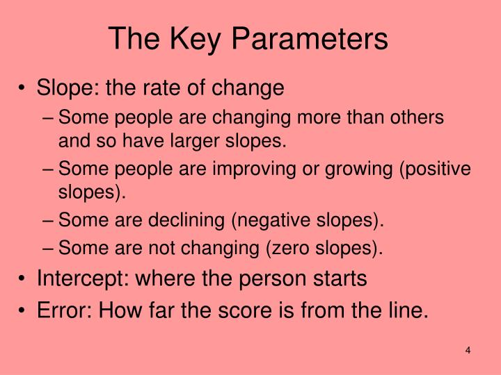 The Key Parameters