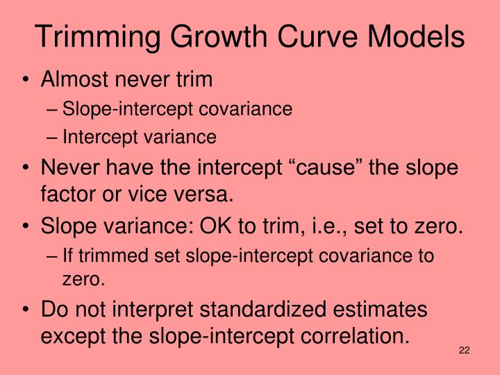 Trimming Growth Curve Models