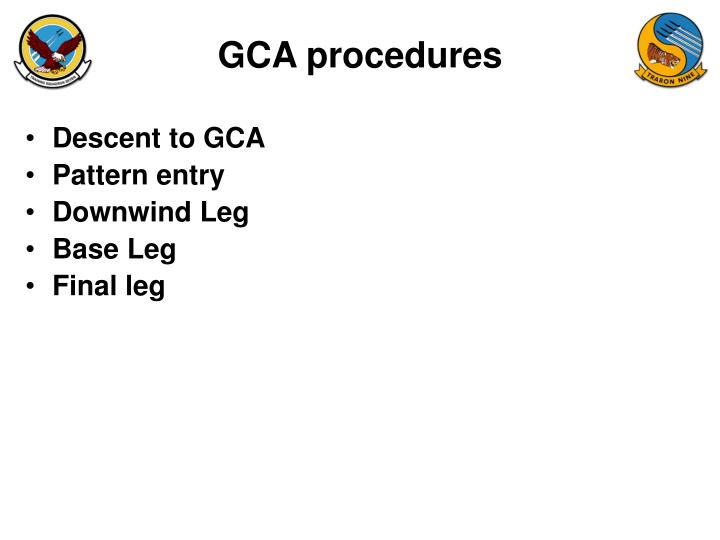 Gca procedures