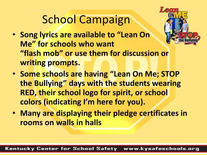 School Campaign