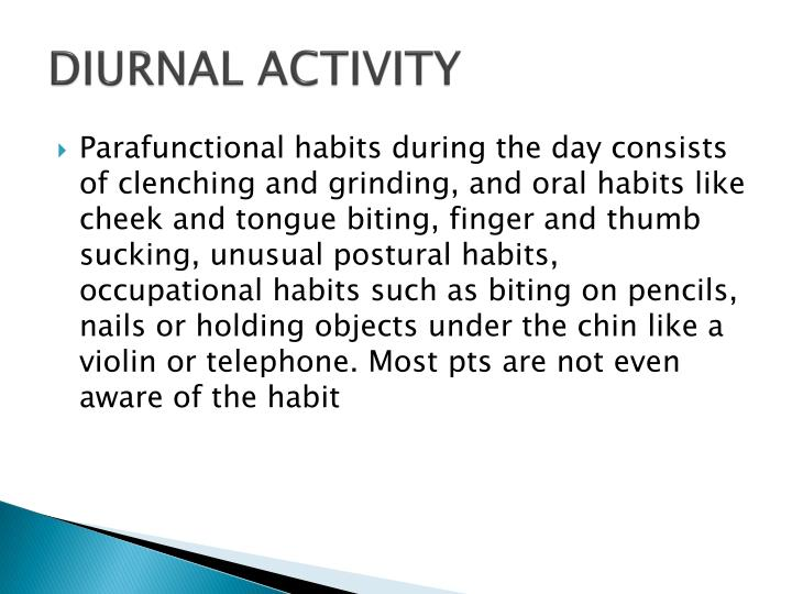 DIURNAL ACTIVITY