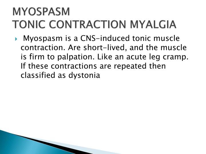 MYOSPASM