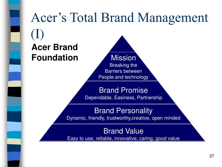Acer's Total Brand Management (I)