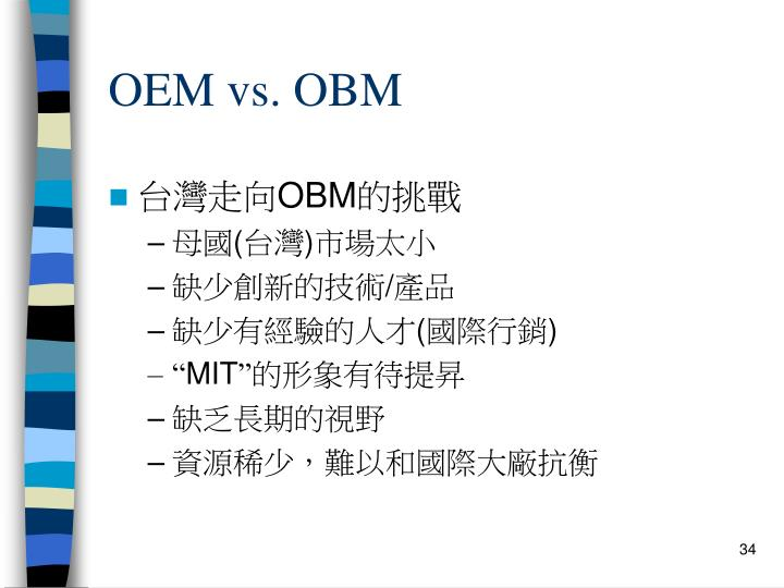 OEM vs. OBM