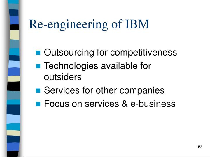 Re-engineering of IBM