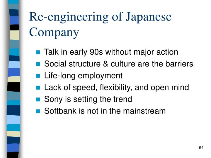 Re-engineering of Japanese Company