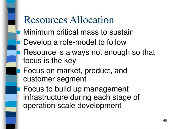 Resources Allocation