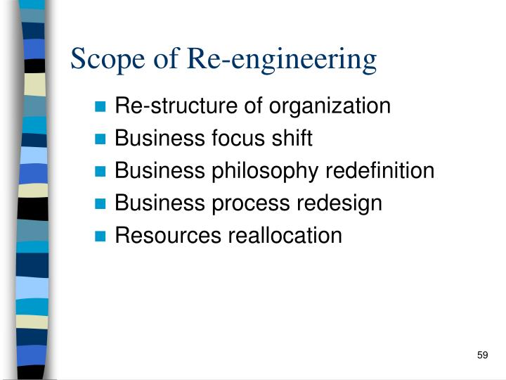 Scope of Re-engineering