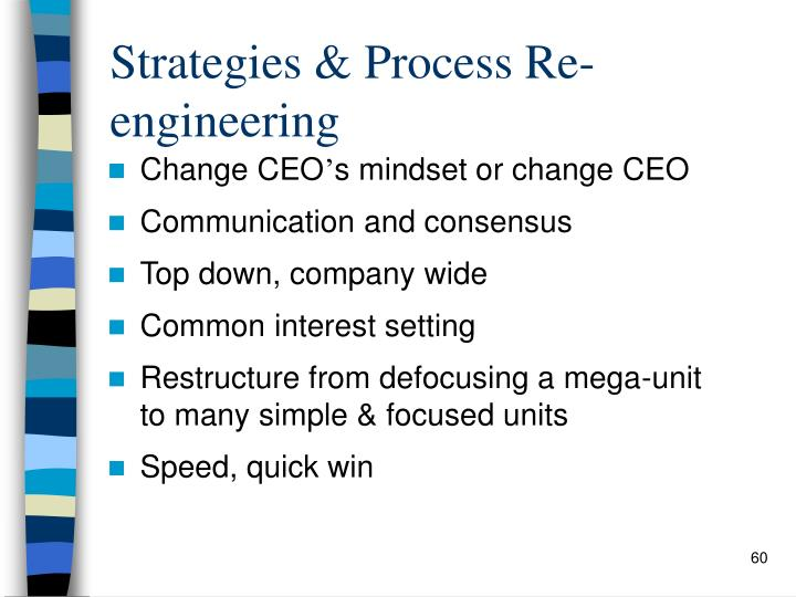 Strategies & Process Re-engineering