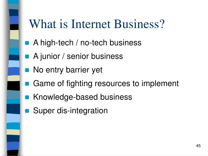 What is Internet Business?