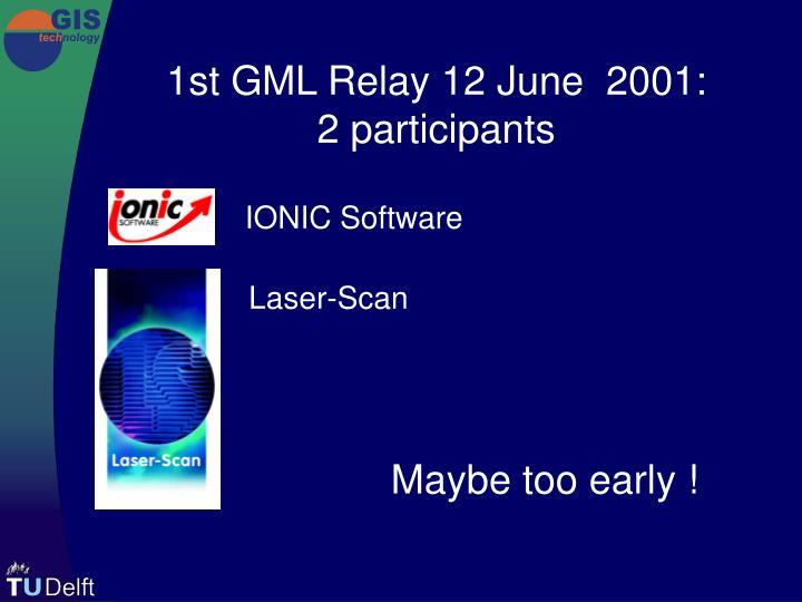 1st GML Relay 12 June  2001:
