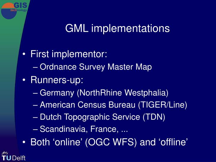 GML implementations