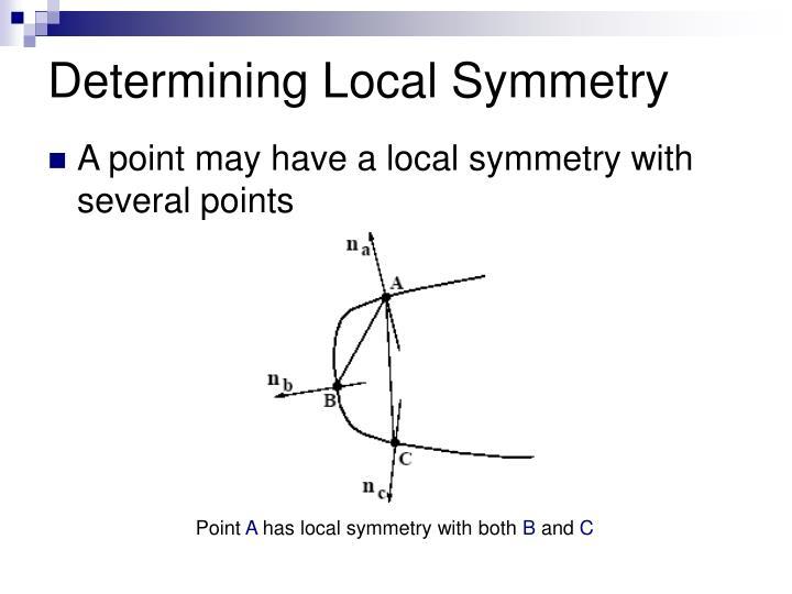 Determining Local Symmetry