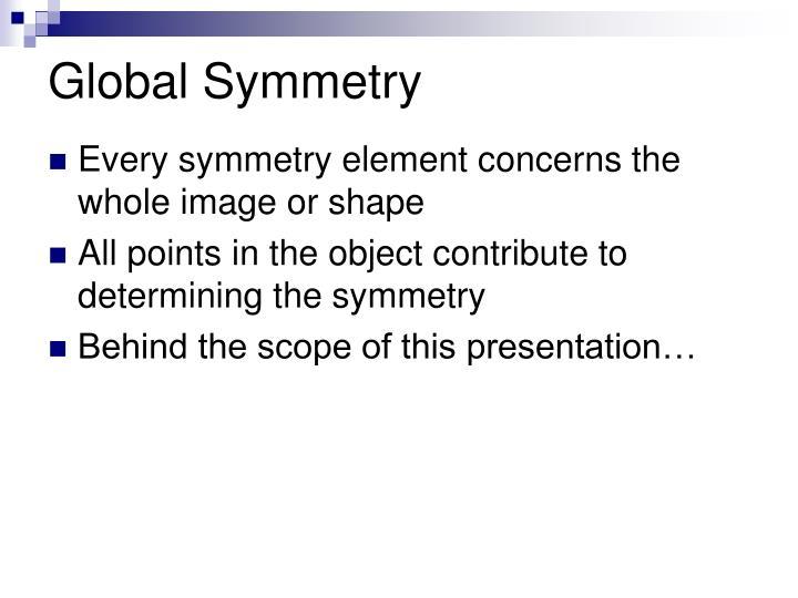 Global Symmetry