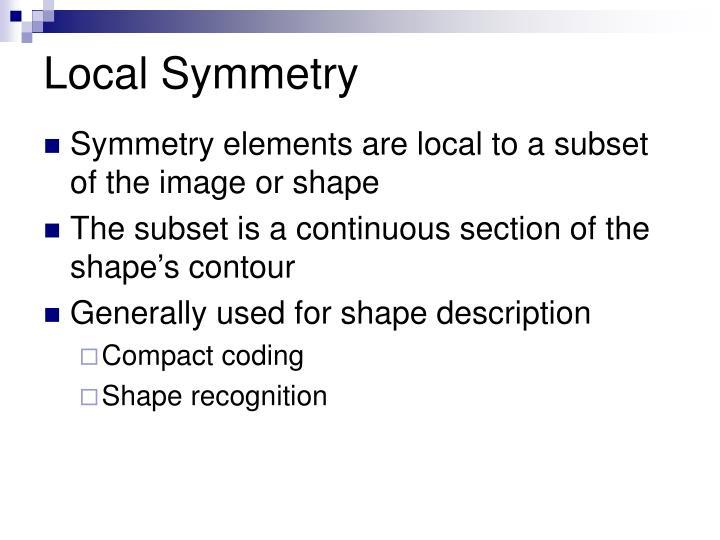 Local Symmetry