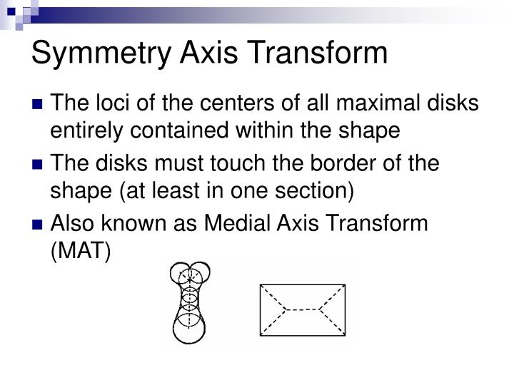 Symmetry Axis Transform