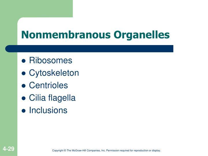 Nonmembranous Organelles